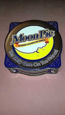 "Collectible ""Moon Pie"" Tin The Original Marshmallow Sandwich Chattanooga Bakery"