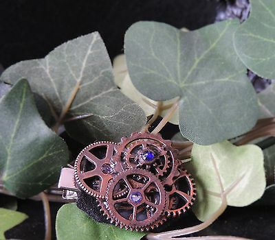 "Barrette steampunk ""Little Gears"""