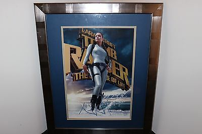 Angelina Jolie Autographed Poster - Tomb Raider With COA