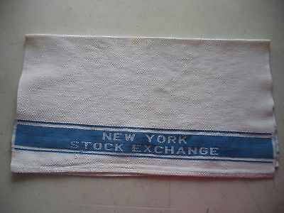 Vintage NEW YORK STOCK EXCHANGE -NEW YORK CITY Hand TOWEL Cannon Barware 2