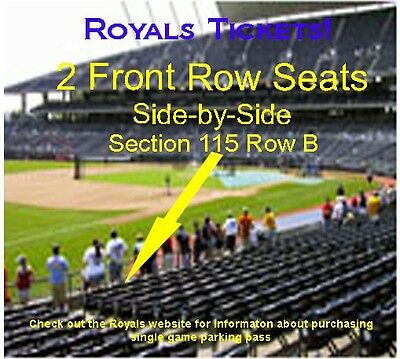 Front Row KC Royals Tickets 5/29/2017 Detroit Tigers