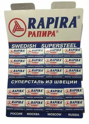 100 Rapira Swedish Super Steel double edge razor blades