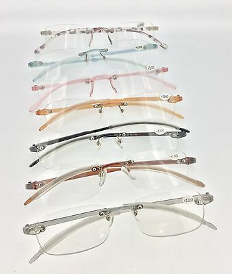 Quality Light weight Rimless Memo Flexible Arm Reading Glasses P703