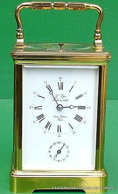 L'epee Grande Corniche Repeater Strike Alarm Carriage Clock