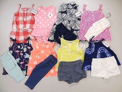 BEST 8 Carter's Outfits Brand New LOT! Size: 6 months Spring Summer