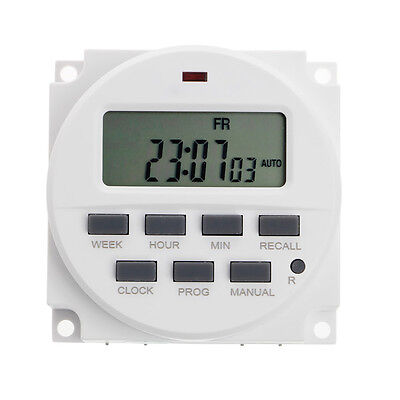 """220V AC 7 Days 15.98""""  LCD Digital Timer Programmable Time Switch TM618N-2"""