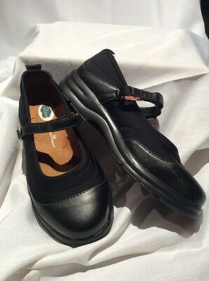 Dr Comfort Flute Black Leather Ladies Mary Jane Shoe New Size 37 Toe Guard