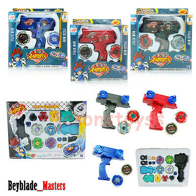 Beyblade + Launcher 2 Tops At Once Metal Fusion Fight Masters 4D Toy Dual