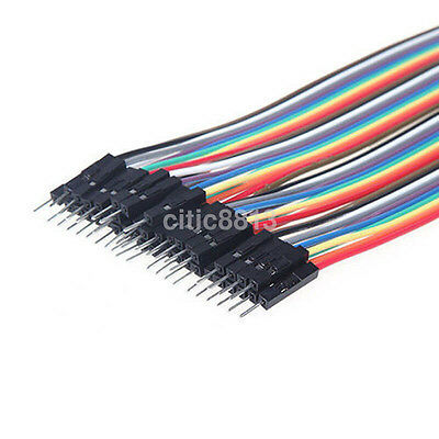 40pcs × 20cm Male to Female Dupont Wires Circuit Experiments for Arduino New UK