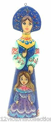 Russian Hand Painted no Nesting Doll with little princes CHRISTMAS ORNAMENT