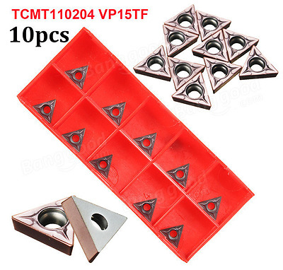 10pcs TCMT110204 VP15TF / TCMT21.51 VP15TF Carbide Inserts Lathe Turning Tool Ho