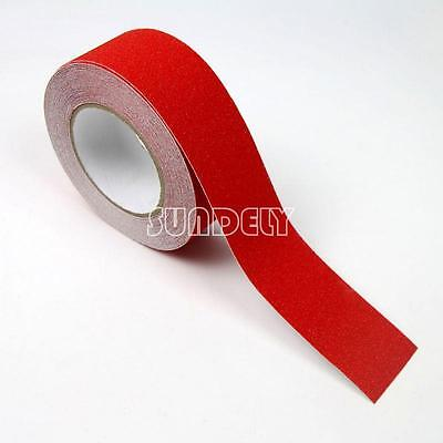 Red 5cm Safety Grip Anti Slip Stair Tread Tape 10M Roll Self Adhesive Sundely
