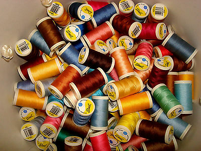 """15 """" Duet """" Sewing Thread 75% Polyester 25% cotton, 100m reels random colours"""
