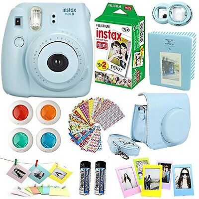 Mini fujifilm instax 8 film instant camera, Film Twin Pack 20 Sheets, Blue +
