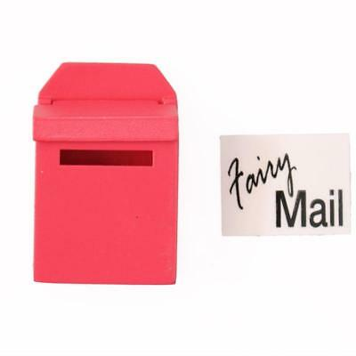 1X Rose Red Wooden Outside Letterbox Post Box Fairy Mail Dollhouse Miniature