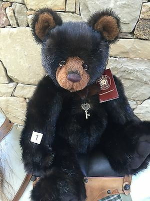 Charlie Bears 1 Frank 50cm Plush Fully Jointed Plumo Collectable Teddy Bear