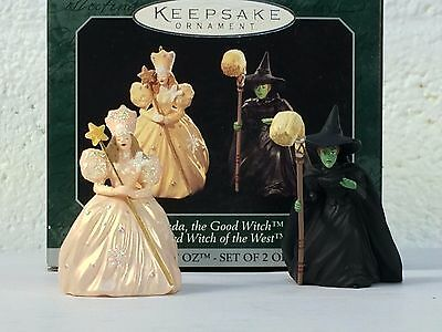 The Wizard of Oz Hall Mark Christmas Ornament Good Witch and Wicked Witch