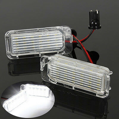 2PCS LED Rear Number License Plate Light Lamp For Ford Fiesta Focus Kuga Mondeo
