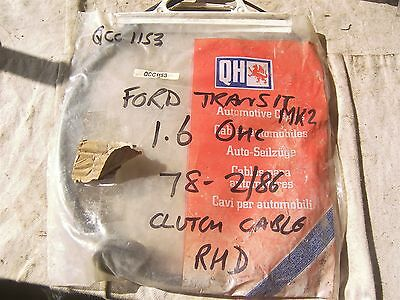 Ford Transit Mk 2 1976-1978 Clutch Cable Qcc1153 Nos