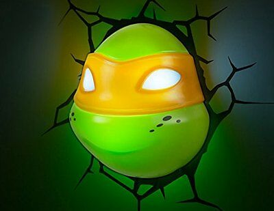 14220 3D Deco Light - disegno lampada decorativa LED 3D Ninja Turtles, (s0d)