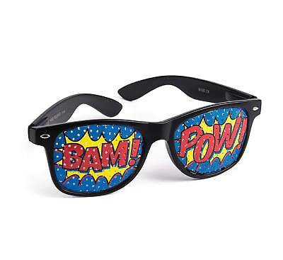 "FANCY DRESS Pop Art ""Pow"" Screened Sunglasses"