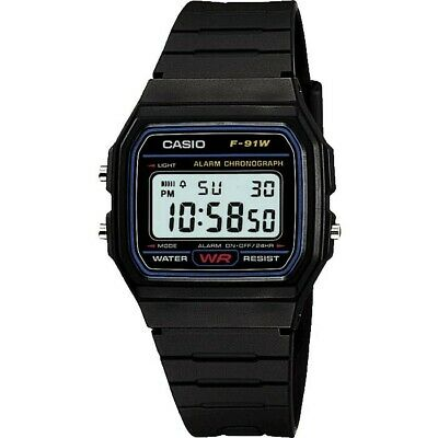 Casio F91 W Men's LCD Black Resin Strap Watch. FREE DELIVERY.