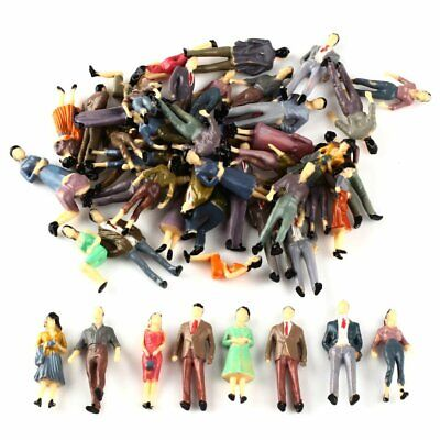 100 Model People Figures Passenegers 1:50 O Scale Train Scenery Mixed Pose Color