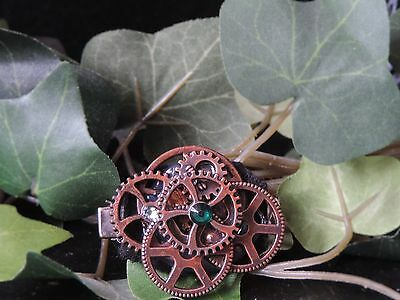 "Barrette steampunk ""Little Gears"
