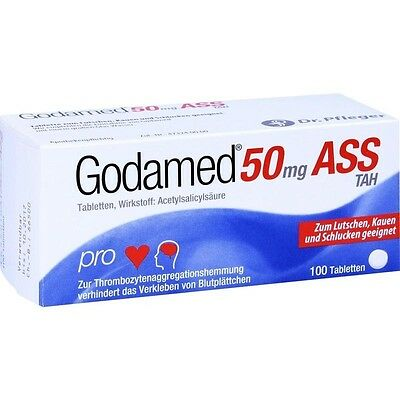 GODAMED 50 mg ASS TAH Tabletten   100 st   PZN3641076
