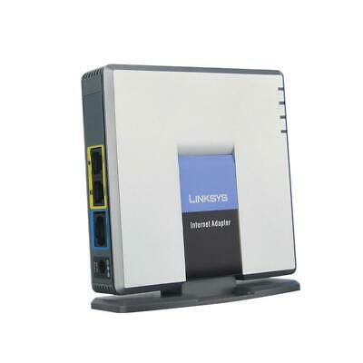 Unlocked Linksys SPA3000 Phone Adapter VoIP Gateway FXS FXO US/EU Power supply