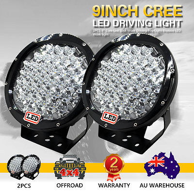 2X 9inch 9998W Cree Led  Spot Work Driving Lights  OFFROAD Black