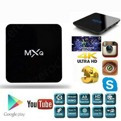 MXQ S905X HD Channel 4K Streaming Media Player Android TV Box HDMI Cable TV M8S