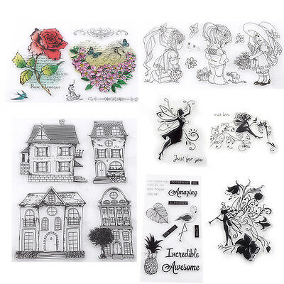 Transparent Silicone Clear Rubber Stamp Sheet Cling Scrapbooking Cards DIY Gift