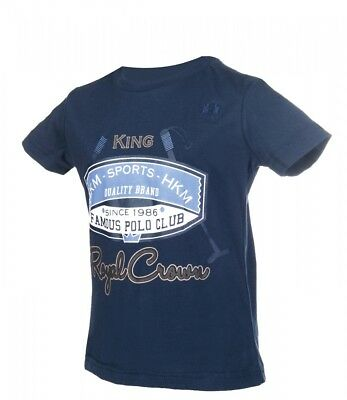 Kinder Shirt King Royal Little Sister dunkelblau NEU