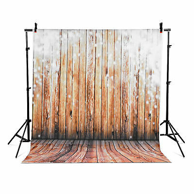 US Photography backdrops photo props studio background Brown wood vinyl 5x7 FT