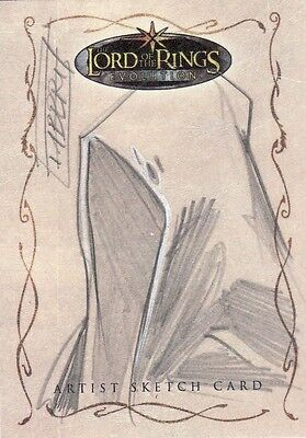 Topps Lord of the Rings Evolution Davide Fabbri / Ringwraith Sketch Card LotR