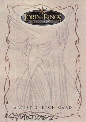 Topps Lord of the Rings Evolution Randy Martinez / Treebeard Sketch Card LotR