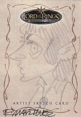 Topps Lord of the Rings Evolution Randy Martinez / Frodo Sketch Card LotR