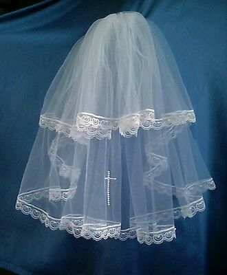 White 19In Holy Communion Veil