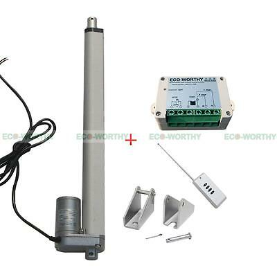 "16"" 12V Linear Actuator Heavy Duty & Bracket & Wireless Controller Kit Auto Car"