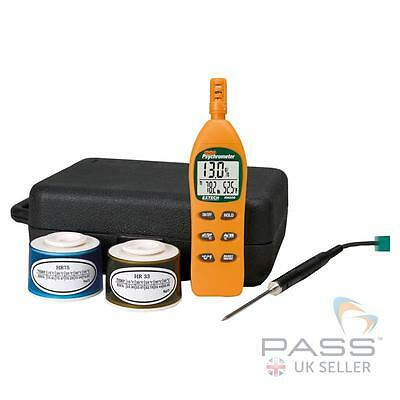 NEW Extech RH305 Humidity Hygro Thermometer Psychrometer Kit / UK Seller