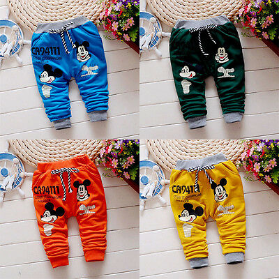 1PC Summer Baby Boys Clothing Casual Trousers Toddler Print Mickey Fashion Pants