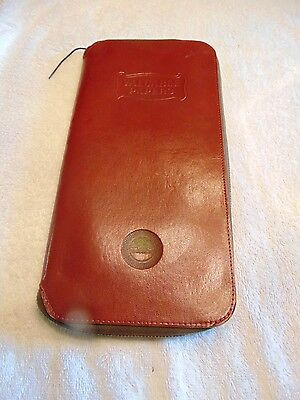 Vintage Leather Valuable Papers Document Holder