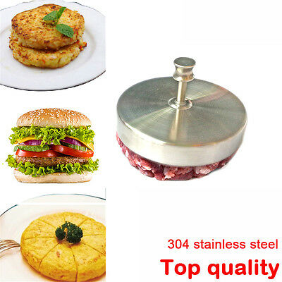 Tools Cooking Meat Patties Mold Hamburger Presses Stainless Steel Burger Maker