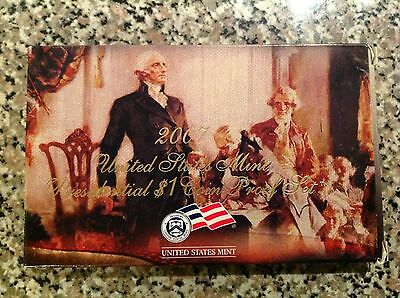2007 S Presidential Dollar Proof Set 4 Coins W/Box And COA
