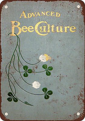 """9"""" x 12"""" Metal Sign - 1905 Advanced Bee Keeping Culture - Vintage Look Reproduct"""