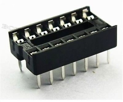 10Pcs Sockets Adaptor Solder Type Dip14 14 Pin Ic New F