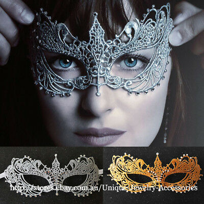 Fifty Shades Darker Masquerade Mask Rhinestone Lace Eye Dress Ball Party Costume