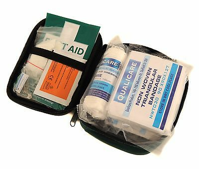 Qualicare HSE Travel First Aid Kit - 1-Person - Compact Hand/Belt Carry Zip Bag