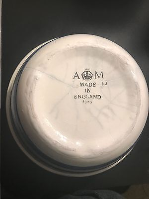 Large RAF Blue/White AM Marked Mess Bowl 1938 Dated
